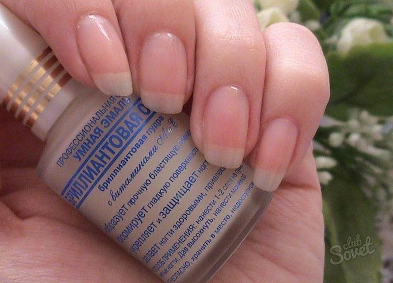 Умная эмаль для ногтей, восстановитель для поврежденных ногтей